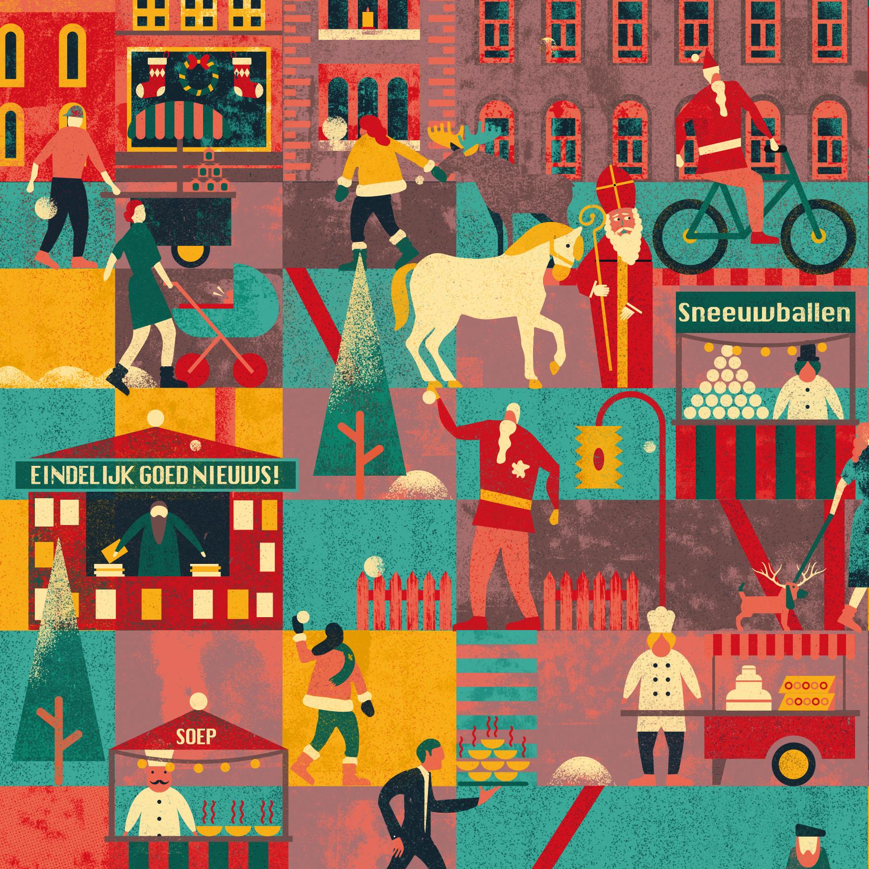 Kerstmarkt zoekplaat